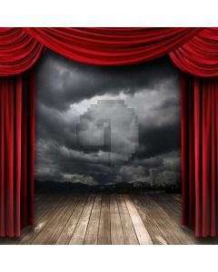 Curtain Storm Floor Computer Printed Photography Backdrop ABD-140