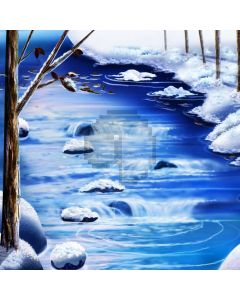 Snow River Wood Computer Printed Photography Backdrop ABD-166