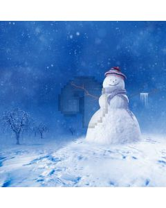 Snowman Snow Tree Computer Printed Photography Backdrop ABD-188