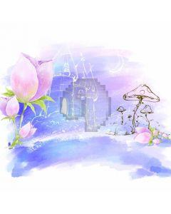 Flower Mushroom Castle Computer Printed Photography Backdrop ABD-201