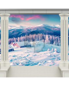 Snow Scene Arch Tree Computer Printed Photography Backdrop ABD-210