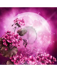 Moon Flower Sunlight Computer Printed Photography Backdrop ABD-234