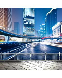 City Road Building Computer Printed Photography Backdrop ABD-248