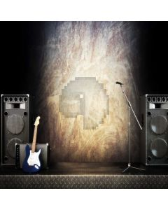 Sound Guitar Computer Printed Photography Backdrop ABD-254