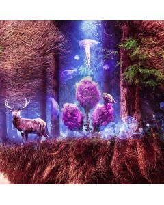 Deer Forest Root Computer Printed Photography Backdrop ABD-292