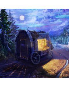 Book Wagon Road Pine Computer Printed Photography Backdrop ABD-320