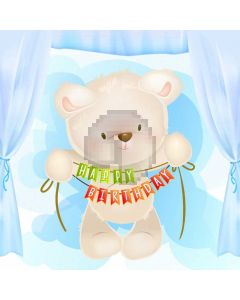 Animal Birthday Computer Printed Photography Backdrop ABD-332