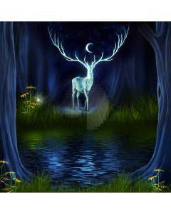 Deer Stream Tree Computer Printed Photography Backdrop ABD-349