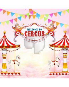 Circus Flag Computer Printed Photography Backdrop ABD-358