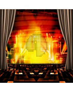 Stage Curtain Light Computer Printed Photography Backdrop ABD-416