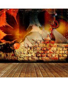 Brick Wall Floor Computer Printed Photography Backdrop ABD-427