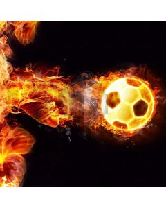 Flare Football Fire Computer Printed Photography Backdrop ABD-437