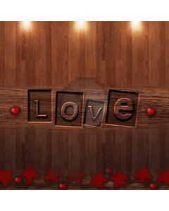 Love Red Star Light Computer Printed Photography Backdrop ABD-447