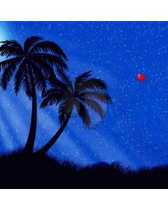 Night Palm Tree Heart Computer Printed Photography Backdrop ABD-453