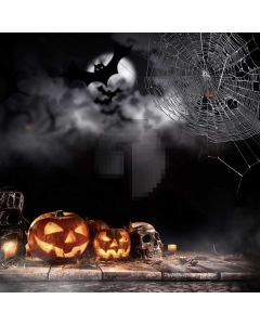 Halloween Pumpkin Computer Printed Photography Backdrop ABD-528