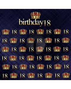 Birthday Pattern Crown Computer Printed Photography Backdrop ABD-536