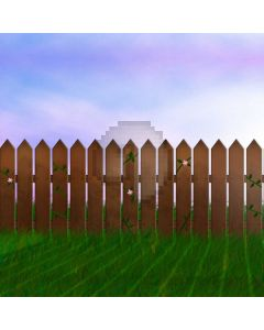 Fence Grassland Computer Printed Photography Backdrop ABD-542