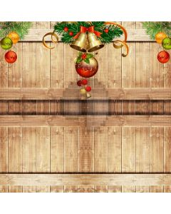Bell Floor Christmas Computer Printed Photography Backdrop ABD-549