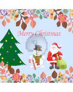 Santa Christmas Tree Computer Printed Photography Backdrop ABD-553