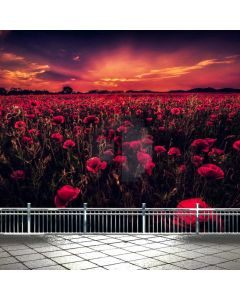 Flower Sunset Rail Computer Printed Photography Backdrop ABD-561