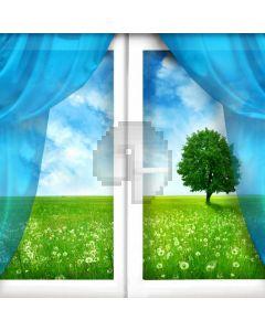 Tree Grass Window Computer Printed Photography Backdrop ABD-570