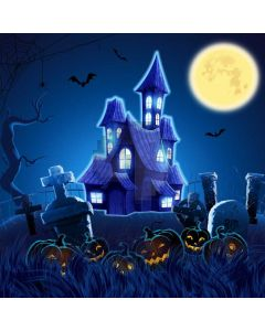 Halloween Moon Coffin Computer Printed Photography Backdrop ABD-572