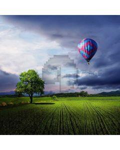 Grass Balloon Sky Computer Printed Photography Backdrop ABD-574