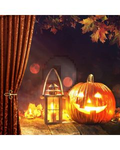 Pumpkin Lantern Maple Computer Printed Photography Backdrop ABD-577