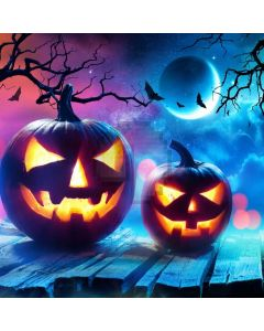 Fullmoon Pumpkin Lantern Floor Branch Computer Printed Photography Backdrop ABD-579