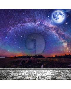 Moon Galaxy Planet Computer Printed Photography Backdrop ABD-585