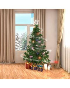 Christmas Gift Star Curtain Computer Printed Photography Backdrop ABD-595