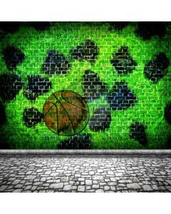 Graffiti Green Football Computer Printed Photography Backdrop ABD-605