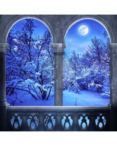 Pillars Snow Cedar Computer Printed Photography Backdrop ABD-612