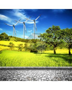 Plant Windmill Grass Computer Printed Photography Backdrop ABD-614