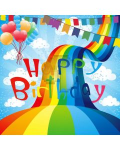 Birthday Colors Computer Printed Photography Backdrop ABD-617