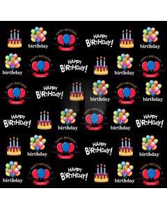 Birthday Cake Balloon Computer Printed Photography Backdrop ABD-622