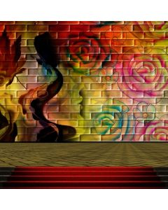 Graffiti Rose Colors Computer Printed Photography Backdrop ABD-626