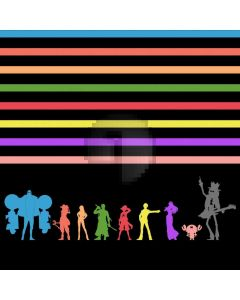 Stage Colors Stripe Dancers Computer Printed Photography Backdrop ABD-637