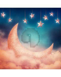 Star Moon Cloud Computer Printed Photography Backdrop ABD-650