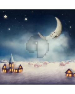 Night Moon House Star Computer Printed Photography Backdrop ABD-651