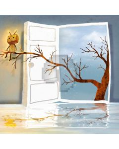 Tree Door Computer Printed Photography Backdrop ABD-657