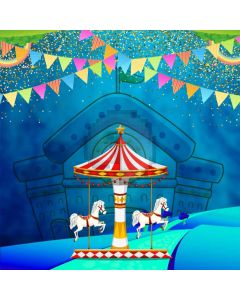 Circus Show Flag Computer Printed Photography Backdrop ABD-668