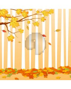 Autumn Leaves Stripe Computer Printed Photography Backdrop ABD-676