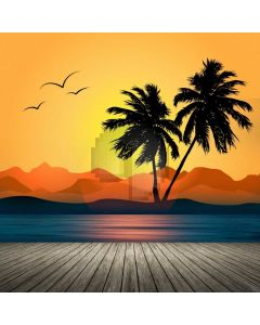 Palm Tree Floor Hill Computer Printed Photography Backdrop ABD-681