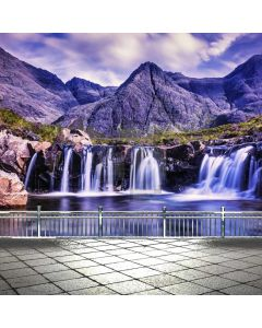 Mountain Waterfall Computer Printed Photography Backdrop ABD-682