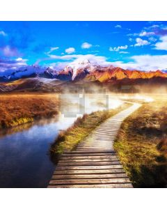 Bridge Mountain Stream Computer Printed Photography Backdrop ABD-684