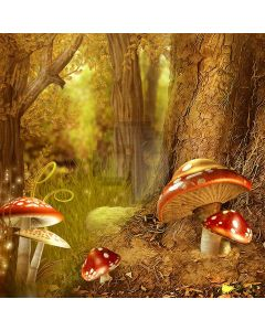 Lush Forest Mushroom Grass Computer Printed Photography Backdrop ABD-688