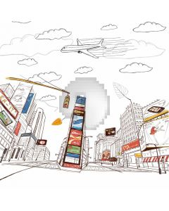 Architecture Plane Computer Printed Photography Backdrop ABD-692