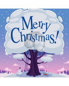 Christmas Tree Tiny Snowman Computer Printed Photography Backdrop ABD-693