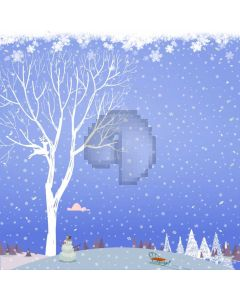 Reindeer High Tree Holly Snowman Computer Printed Photography Backdrop ABD-698